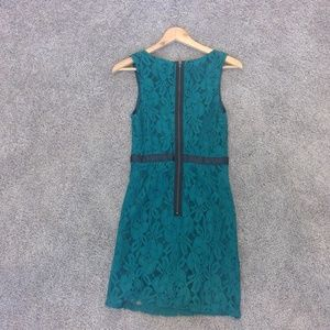 Forever 21 Dresses - Teal and Black Lace Sheath Dress